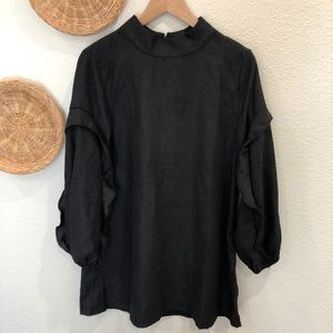 Very J Black shirt dress with puffy sleeves size S